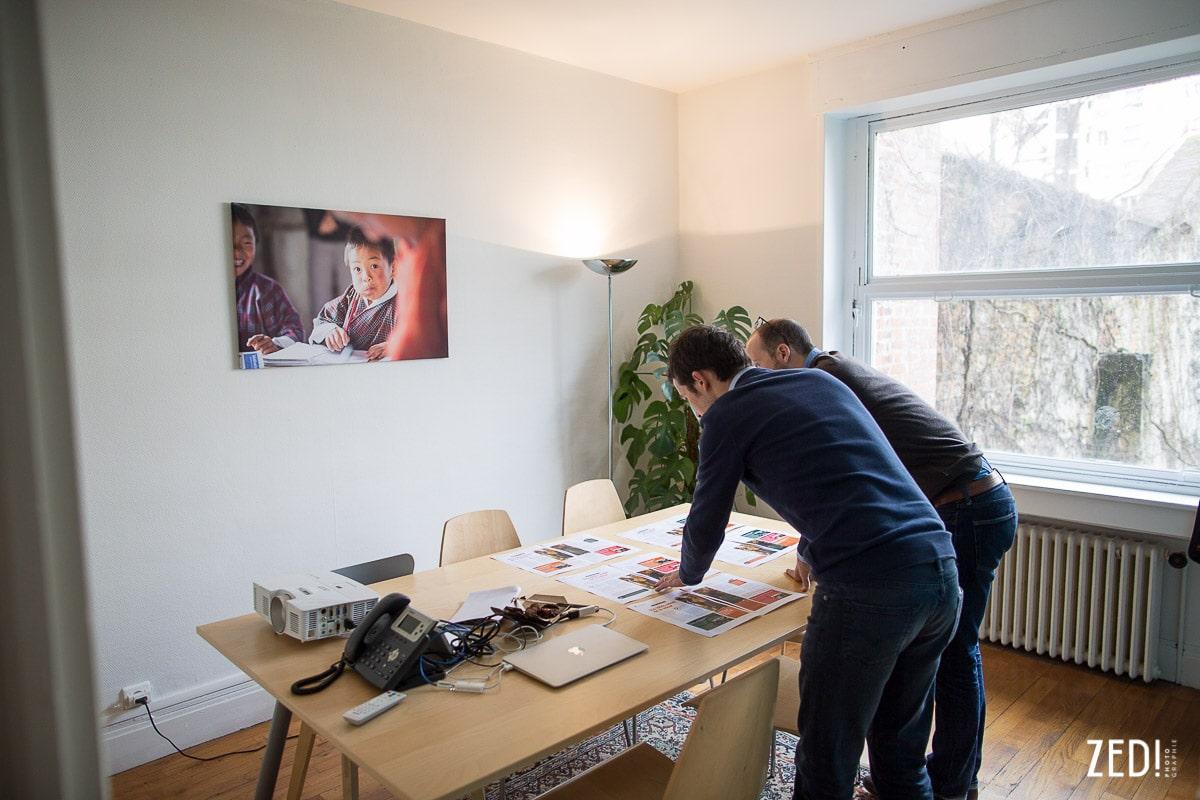 Des photos fine art exposées dans une agence de communication Ultramédia à Lyon, en Rhône Alpes