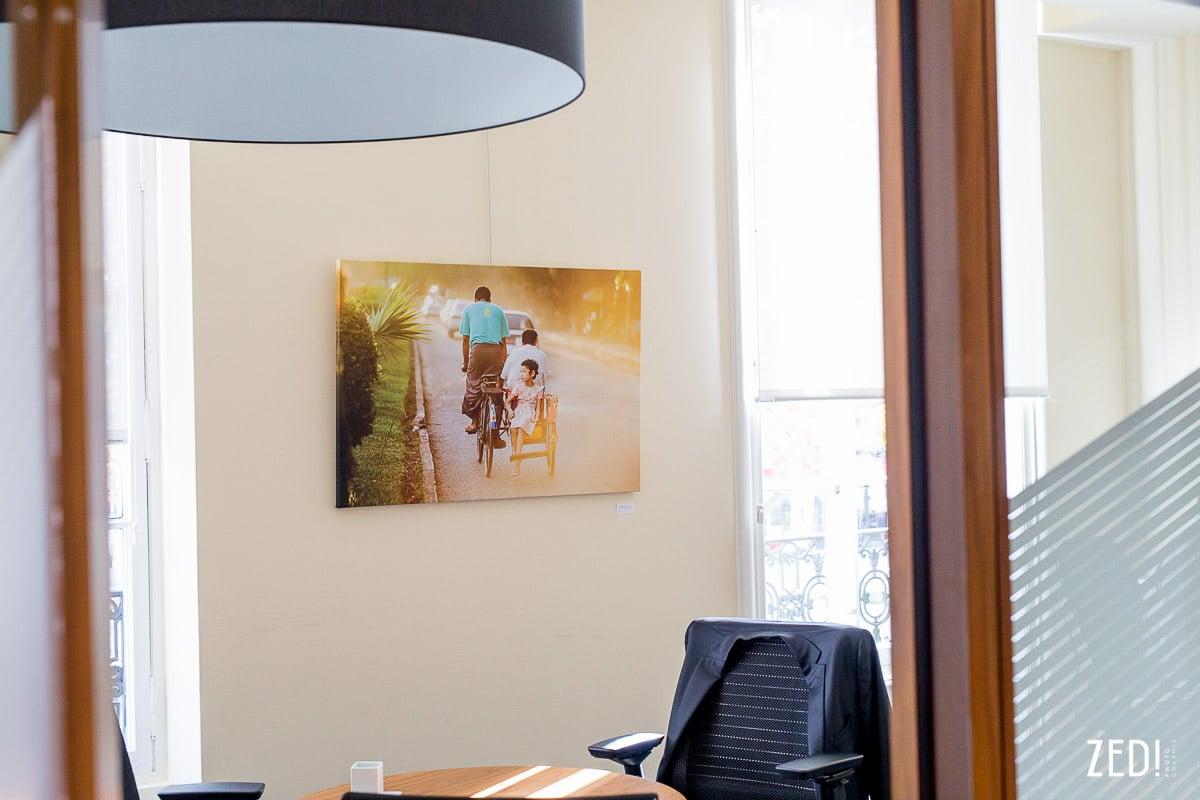 Des impressions photos et agrandissements lors d'une exposition photos à Lyon par un artiste Fine Art.