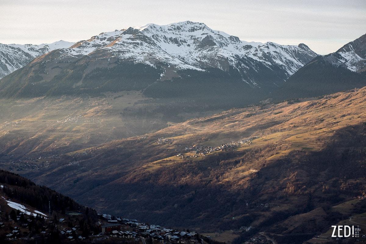 Une photo de montagne lors d'un reportage photographique dans les Alpes française en Savoie proche des Arcs.