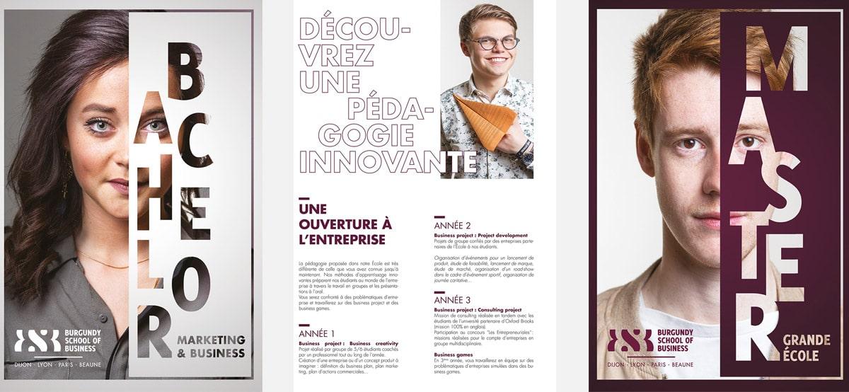 Un photographe portrait Lyon et entreprise qui réalise des portraits naturels dans l'école de commerce Burgundy School Of Business. Photos portraits.